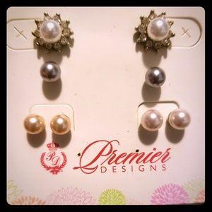 Premier designs Interchangeable pearl studs